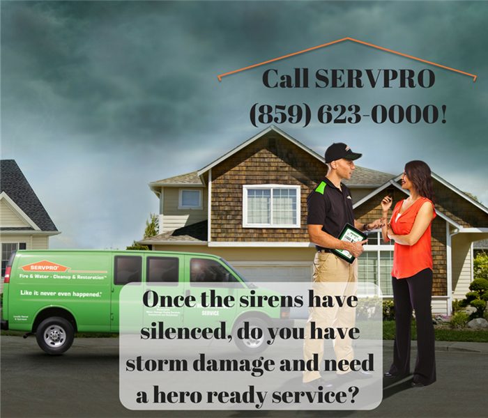 Storm Damage Once the sirens have silenced, do you have storm damage and need a hero ready service?