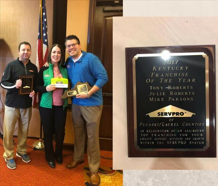 General SERVPRO® of Madison, Rockcastle, Garrard, & Lincoln Counties named Kentucky Franchise of the Year!